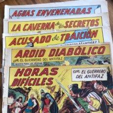 Tebeos: EL GUERRERO DEL ANTIFAZ CINCO NÚMEROS 556, 557, 554, 368 Y 378. Lote 198623887