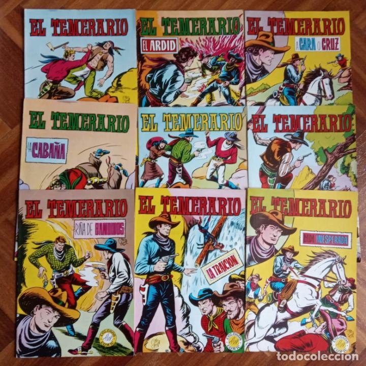 EL TEMERARIO EDI. VALENCIANA 1976 NºS 2 AL 10 (Tebeos y Comics - Valenciana - Otros)