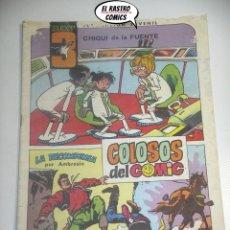 Tebeos: SUPER 3 Nº 9 , ED. VALENCIANA, COLOSOS DEL COMIC. Lote 198836263