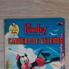 Tebeos: CARRERA DE VELEROS-LIBROS ILUSTRADOS PUMBY Nº 28 AÑO 1970-EDITORA VALENCIANA S.A.. Lote 198847736