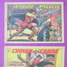 Tebeos: LOTE 214 TEBEOS EL ESPADACHIN ENMASCARADO, ED. VALENCIANA 1960 HAY REPETIDOS. Lote 198899245