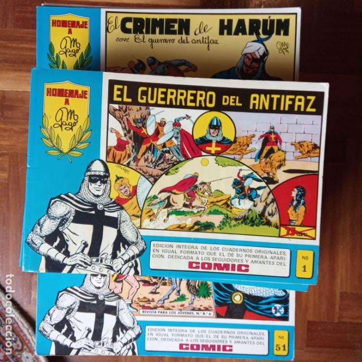 Tebeos: EL GUERRERO DEL ANTIFAZ HOMENAJE A GAGO - EDI. VALENCIANA 96 EJEMPLARES , MUY BUEN ESTADO - Foto 7 - 198906816