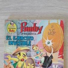 Tebeos: EL EJÉRCITO INVISIBLE-LIBROS ILUSTRADOS PUMBY Nº 37 AÑO 1971-EDITORA VALENCIANA S.A.. Lote 198910230