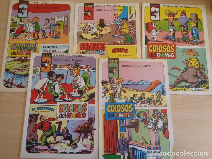 COLOSOS DEL COMIC. SUPER 3. VALENCIANA. LOTE DE 5 EJEMPLARES: 5, 6, 8, 9, 12 (Tebeos y Comics - Valenciana - Colosos del Comic)