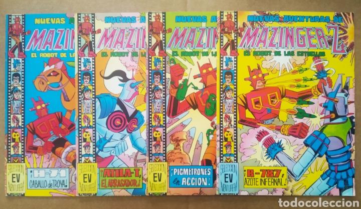LOTE NUEVAS AVENTURAS DE MAZINGER-Z EL ROBOT DE LAS ESTRELLAS: NÚMEROS 20-21-22-23 (VALENCIANA). (Tebeos y Comics - Valenciana - Selección Aventurera)