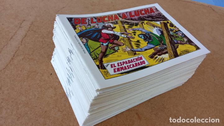 EL ESPADACHÍN ENMASCARADO 1981 50 PTS 56 TEBEOS - 21 AL 66, 68,69,5,6,7,8,13,14,15,16 (Tebeos y Comics - Valenciana - Espadachín Enmascarado)