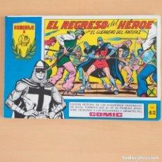 Tebeos: EL GUERRERO DEL ANTIFAZ - EL REGRESO DEL HEROE. NUM 42. HOMENAJE A MANUEL GAGO. Lote 202963531