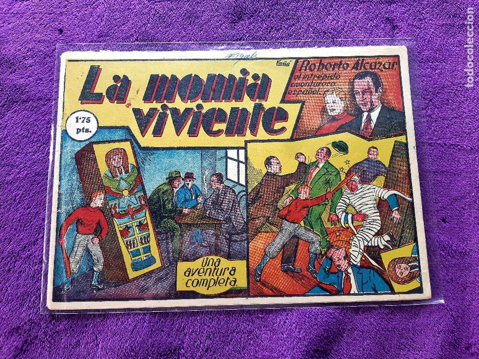 ROBERTO ALCAZAR Nº 6 LA MOMIA VIVIENTE ORIGINAL BUEN ESTADO (Tebeos y Comics - Valenciana - Roberto Alcázar y Pedrín)