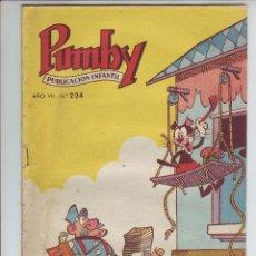 Tebeos: PUMBY - REVISTA INFANTIL - Nº 224 - AÑO VII. Lote 203406030