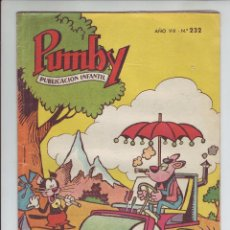 Tebeos: PUMBY - REVISTA INFANTIL - Nº 232 - AÑO VIII. Lote 203406037