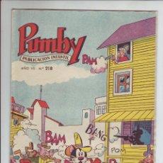 Tebeos: PUMBY - REVISTA INFANTIL - Nº 218 - AÑO VII. Lote 203406087