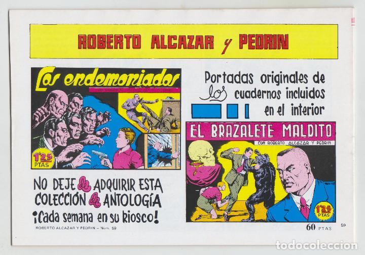 Tebeos: REEDICION - ROBERTO ALCAZAR Y PEDRÍN - NÚM. 59: EL ENIGMA DEL HOMBRE MONO - 1982 - PERFECTO ESTADO - Foto 2 - 203945713