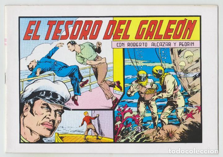 REEDICION - ROBERTO ALCAZAR Y PEDRÍN - NÚM. 70: EL TESORO DEL GALEÓN - 1982 - PERFECTO ESTADO (Tebeos y Comics - Valenciana - Roberto Alcázar y Pedrín)