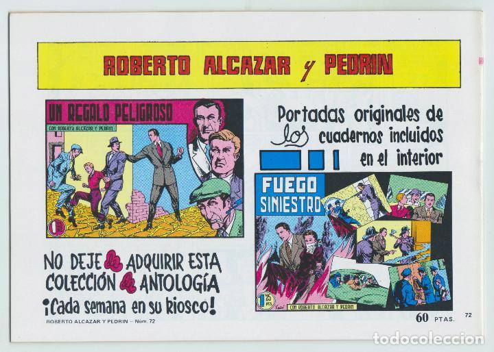 Tebeos: REEDICION - ROBERTO ALCAZAR Y PEDRÍN - NÚM. 72: EL MISTERIO DE ALCIONE - 1982 - PERFECTO ESTADO - Foto 2 - 203985705