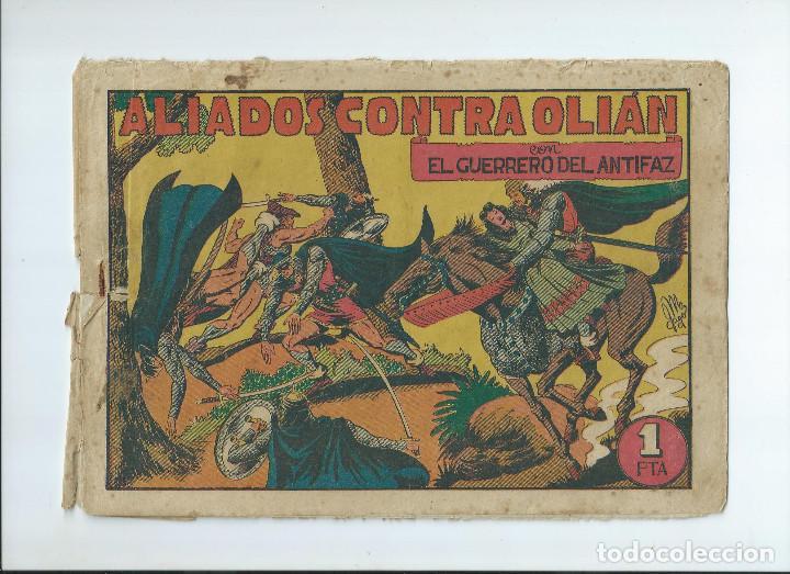 LOTE 10 NUMEROS GUERRERO DEL ANTIFAZ ORIGINALES, EN REGULAR ESTADO (Tebeos y Comics - Valenciana - Guerrero del Antifaz)