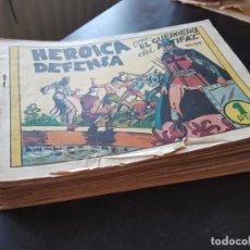 Tebeos: GRAN LOTE 42 TEBEOS / CÓMIC ORIGINALES EL GUERRERO DEL ANTIFAZ VALENCIANA AÑOS 40 N 7 A 157. Lote 204604730