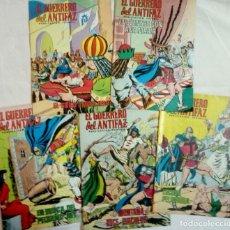 Tebeos: 5 NÚMEROS DE COMICS EL GUERRERO DEL ANTIFAZ 1972. Lote 204657682