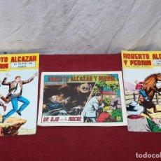 Tebeos: 3 TEBEOS ROBERTO ALCAZAR Y PEDRIN..Nº 132, 133 (1978) Y 1105 (1973). Lote 205072586