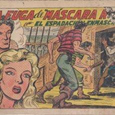 Tebeos: EL ESPADACHIN ENMASCARADO Nº 182. LA FUGA DE MASCARA ROJA. Lote 205674767