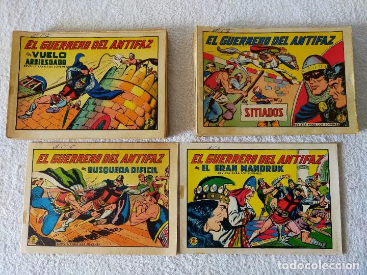 EL GUERRERO DEL ANTIFAZ (ORIGINAL) LOTE DESDE EL 602 AL 668 (67 EJEMPLARES) - EDITORIAL VALENCIANA (Tebeos y Comics - Valenciana - Guerrero del Antifaz)