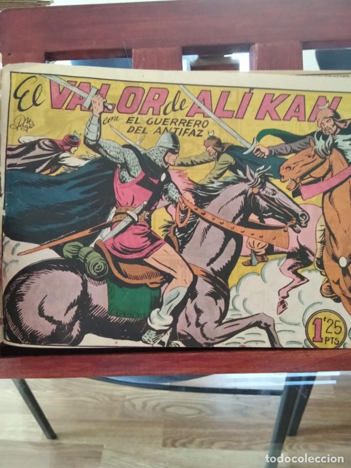 EL GUERRERO DEL ANTIFAZ ORIGINAL- TOMO CON 58 TEBEOS-DEL 164 AL 221,AMBOS INCLUSIVE-VER (Tebeos y Comics - Valenciana - Guerrero del Antifaz)