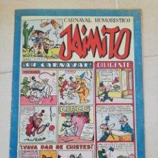 Tebeos: CARNAVAL HUMORÍSTICO DE JAIMITO N°108 EDITORIAL VALENCIANA. Lote 206460471
