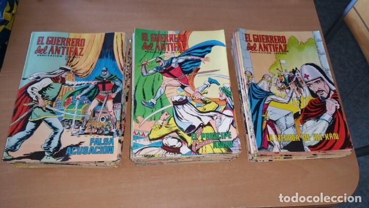 LOTE 129 COMICS EL GUERRERO DEL ANTIFAZ COLOR VALENCIANA ENTRE 98 Y 336 (Tebeos y Comics - Valenciana - Guerrero del Antifaz)