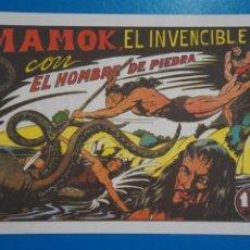 Tebeos: COMIC DE PURK EL HOMBRE DE PIEDRA MAMOK EL INVENCIBLE Nº 5 EDITORIAL VALENCIANA***LOTE 4 C. Lote 207199365