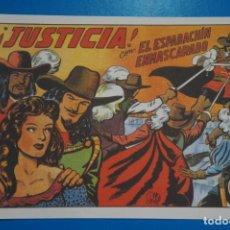 Tebeos: COMIC DE EL ESPADACHIN ENMASCARADO JUSTICIA Nº 4 EDITORIAL VALENCIANA*** LOTE 20 A. Lote 207201010