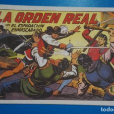 Tebeos: COMIC DE EL ESPADACHIN ENMASCARADO LA ORDEN REAL Nº 6 EDITORIAL VALENCIANA*** LOTE 20 A. Lote 207201301