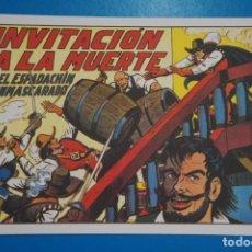 Tebeos: COMIC DE EL ESPADACHIN ENMASCARADO INVITACION A LA MUERTE Nº 7 EDITORIAL VALENCIANA*** LOTE 20 A. Lote 207201468