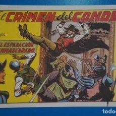 Tebeos: COMIC DE EL ESPADACHIN ENMASCARADO EL CRIMEN DEL CONDE Nº 3 EDITORIAL VALENCIANA*** LOTE 20 B. Lote 207202032