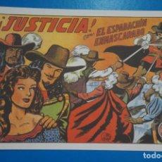 Tebeos: COMIC DE EL ESPADACHIN ENMASCARADO JUSTICIA Nº 4 EDITORIAL VALENCIANA*** LOTE 20 B. Lote 207202091