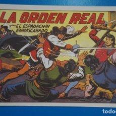 Tebeos: COMIC DE EL ESPADACHIN ENMASCARADO LA ORDEN REAL Nº 6 EDITORIAL VALENCIANA*** LOTE 20 B. Lote 207202253
