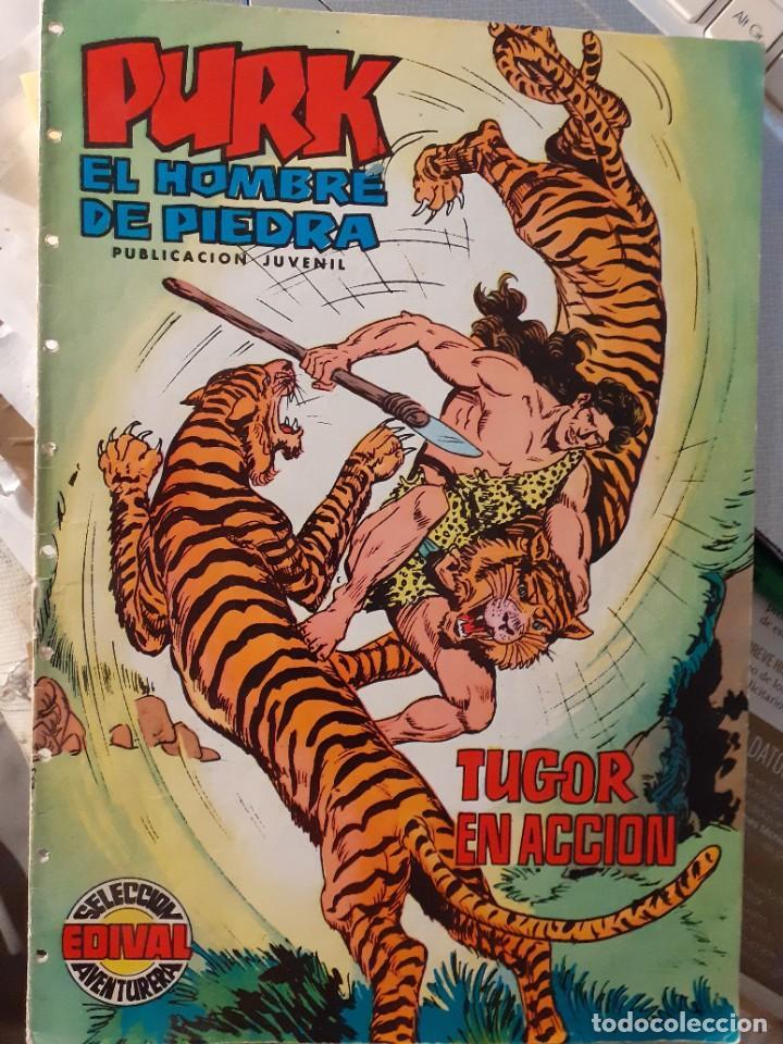 PURK EL HOMBRE DE PIEDRA-SELECCIÓN AVENTURERA- Nº 19 -GRAN M. GAGO-1974-CORRECTO-LEAN-3515 (Tebeos y Comics - Valenciana - Selección Aventurera)