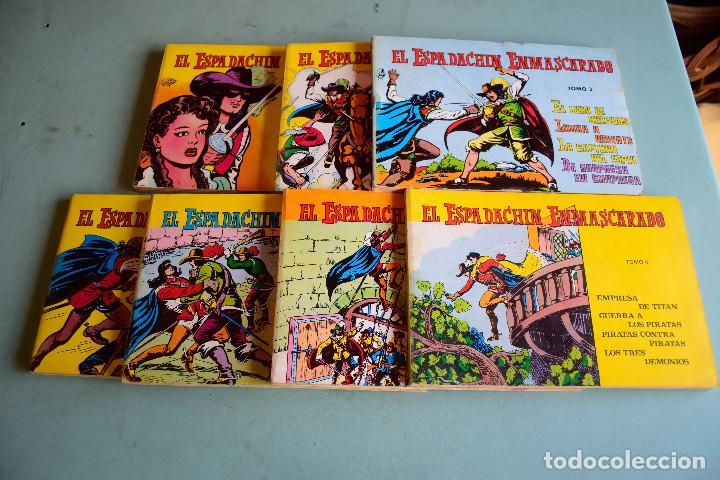 EL ESPADACHIN ENMASCARADO (RETAPADOS) VOL 1,2,3,6,7,8,10 , ED VALENCIANA (Tebeos y Comics - Valenciana - Espadachín Enmascarado)