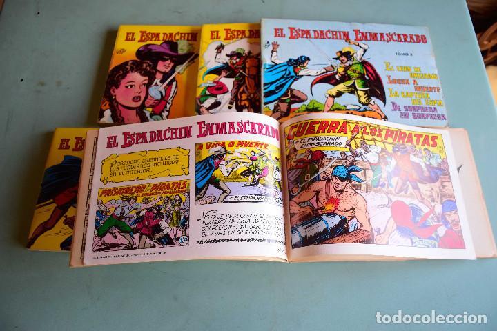 Tebeos: El espadachin enmascarado (retapados) Vol 1,2,3,6,7,8,10 , ed Valenciana - Foto 2 - 207684981