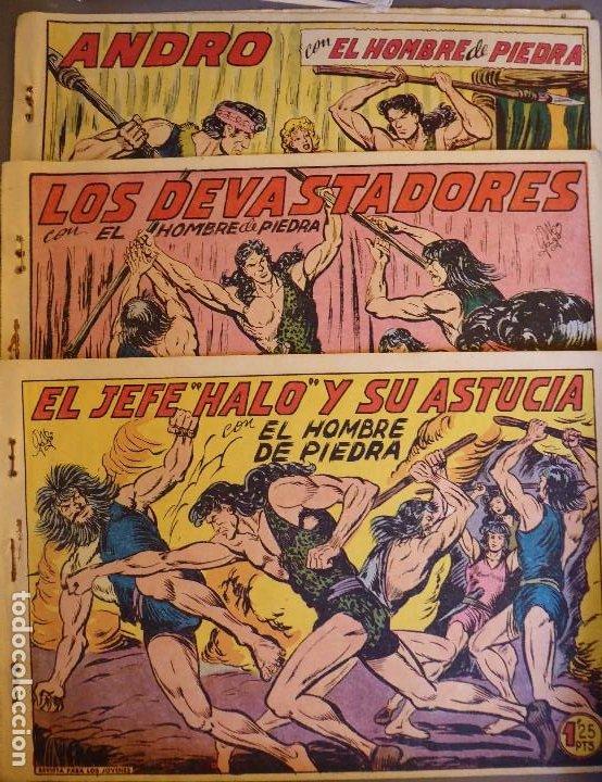 Tebeos: COM-234. PURK, EL HOMBRE DE PIEDRA. 9 CUADERNOS. EDIT. VALENCIANA. ORIGINALES. NÚMEROS CONSECUTIVOS. - Foto 2 - 207781813