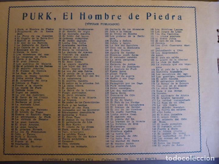 Tebeos: COM-234. PURK, EL HOMBRE DE PIEDRA. 9 CUADERNOS. EDIT. VALENCIANA. ORIGINALES. NÚMEROS CONSECUTIVOS. - Foto 4 - 207781813