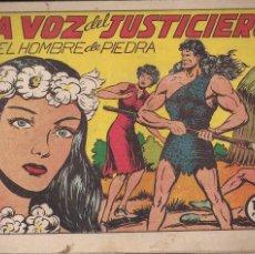 Tebeos: EL HOMBRE DE PIEDRA Nº 28: LA VOZ DEL JUSTICIERO. Lote 208479607