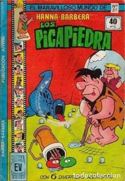 EL MARAVILLOSO MUNDO DE HANNA-BARBERA- Nº 31 -LOS PICAPIEDRA-LINDO-1979-MUY DIFÍCIL-LEAN-3672 (Tebeos y Comics - Valenciana - Selección Aventurera)