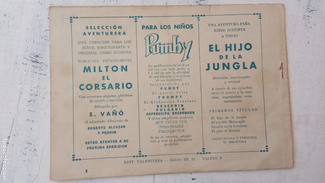 Tebeos: EL HIJO DE LA JUNGLA Nº 1 ORIGINAL EDI. VALENCIANA AÑOS 50 - Foto 2 - 209629560