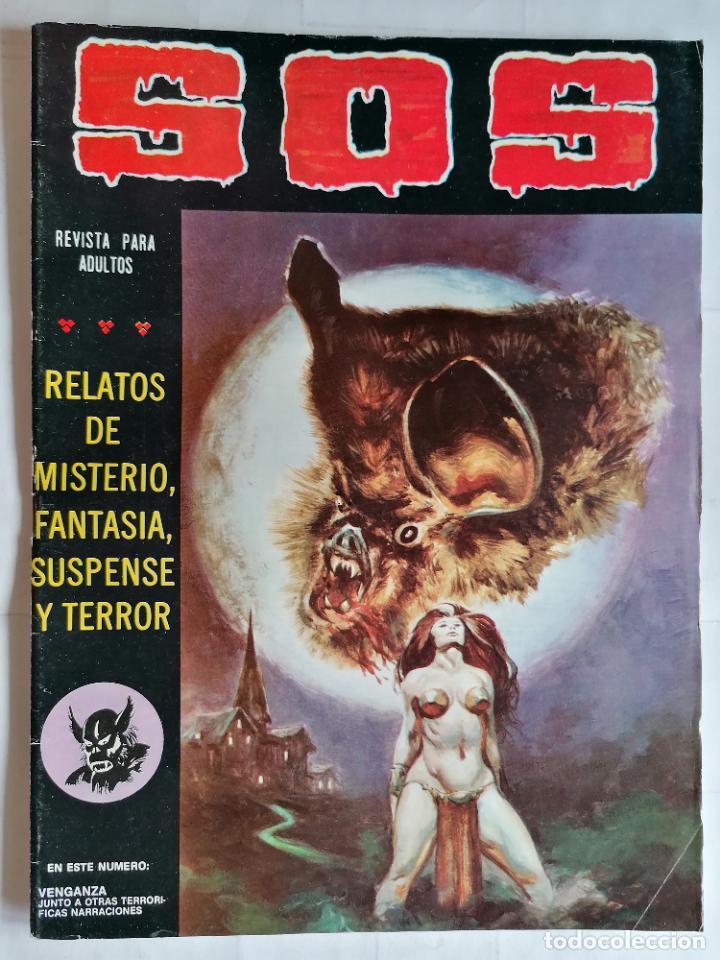 TEBEO COMICS SOS, RELATOS DE MISTERIO, FANTASIA, SUSPENSE Y TERROR, Nº 36, SEGUNDA EPOCA, AÑO 1980 (Tebeos y Comics - Valenciana - S.O.S)