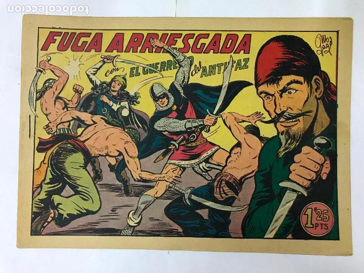 FUGA ARRIESGADA CON EL GUERRERO DEL ANTIFAZ Nº184 ORIGINAL (1,25 PTS) (Tebeos y Comics - Valenciana - Guerrero del Antifaz)