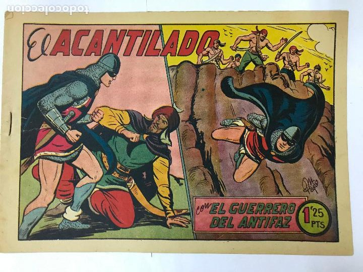 EL ACANTILADO CON EL GUERRERO DEL ANTIFAZ Nº182 ORIGINAL (1,25 PTS) M. GAGO (Tebeos y Comics - Valenciana - Guerrero del Antifaz)