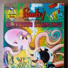 Tebeos: LIBROS ILUSTRADOS PUMBY N°22: EL TESORO SUBMARINO (VALENCIANA, 1970). POR J. SANCHIS Y OTROS AUTORES. Lote 210323985