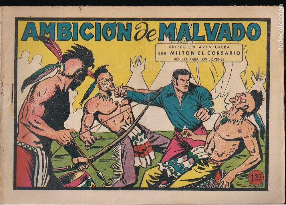 MILTON EL CORSARIO Nº 98: AMBICION DE MALVADO (Tebeos y Comics - Valenciana - Selección Aventurera)