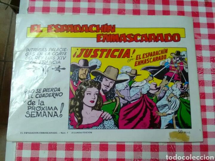 Tebeos: EL ESPADACHÍN ENMASCARADO .Guion P.Gago .Dibujos M.Gago .Ed.Valenciana - Foto 3 - 210648371
