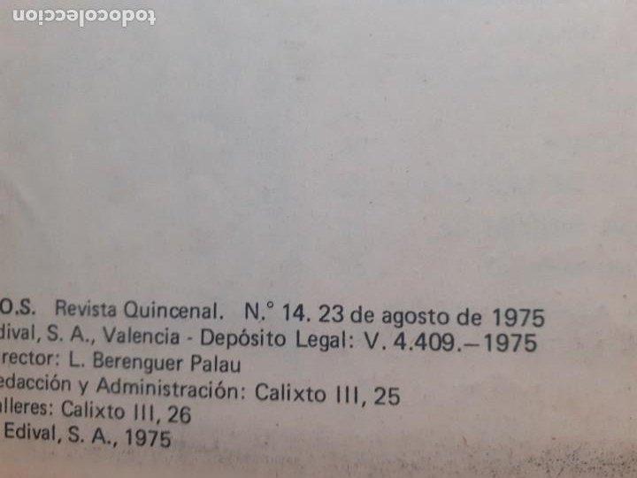 Tebeos: SOS -I ÉPOCA - Nº 14 -GRANDES V. VAÑÓ-MANUEL GAGO-MORENO CASARES-1975-MUY DIFÍCIL-BUENO-LEAN-3815 - Foto 4 - 210736831