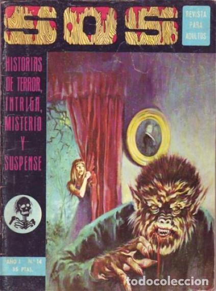 SOS -I ÉPOCA - Nº 14 -GRANDES V. VAÑÓ-MANUEL GAGO-MORENO CASARES-1975-MUY DIFÍCIL-BUENO-LEAN-3815 (Tebeos y Comics - Valenciana - S.O.S)